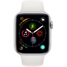 Apple Watch Series 4 GPS 44mm Aluminum Case with Sport Band (Silver/White)